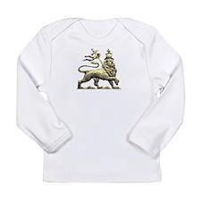 Rasta Lion of Judah Long Sleeve Infant T-Shirt