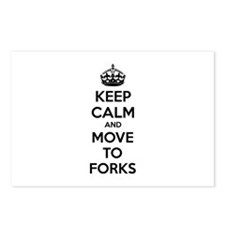 Keep calm and move to forks Postcards (Package of