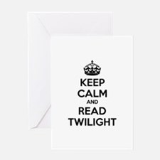 Keep calm and read twilight Greeting Card