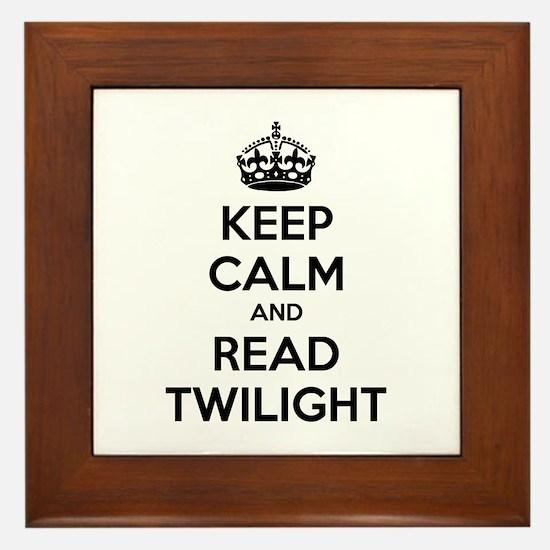 Keep calm and read twilight Framed Tile