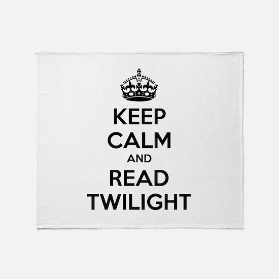 Keep calm and read twilight Throw Blanket