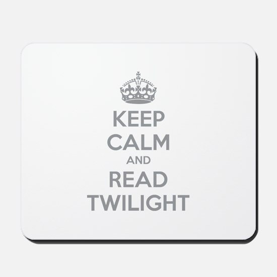 Keep calm and read twilight Mousepad