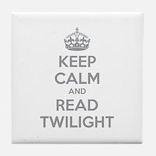 Keep calm and read twilight Tile Coaster