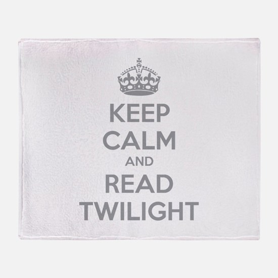 Keep calm and read twilight Throw Blanket