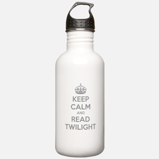 Keep calm and read twilight Water Bottle