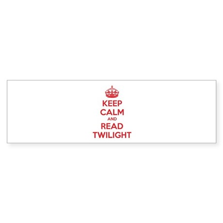 Keep calm and read twilight Sticker (Bumper)