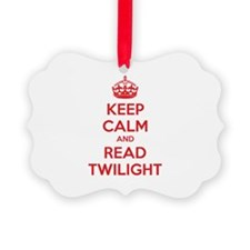 Keep calm and read twilight Ornament