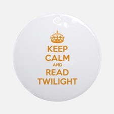 Keep calm and read twilight Ornament (Round)