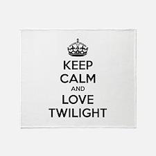 Keep calm and love twilight Throw Blanket