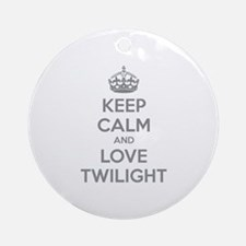 Keep calm and love twilight Ornament (Round)