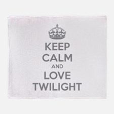 Keep calm and love twilight Throw Blanket