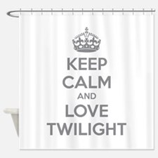 Keep calm and love twilight Shower Curtain