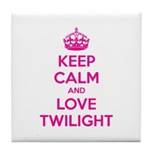 Keep calm and love twilight Tile Coaster