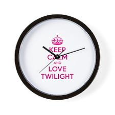 Keep calm and love twilight Wall Clock