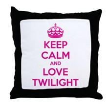Keep calm and love twilight Throw Pillow