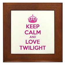 Keep calm and love twilight Framed Tile