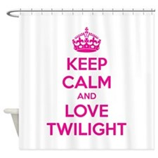 Keep calm and love twilight Shower Curtain