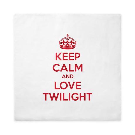 Keep calm and love twilight Queen Duvet