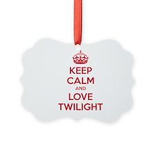 Keep calm and love twilight Ornament