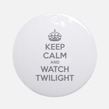Keep calm and watch twilight Ornament (Round)