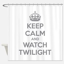 Keep calm and watch twilight Shower Curtain