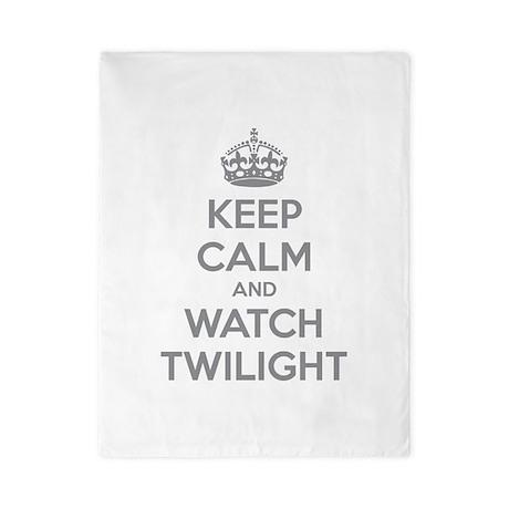Keep calm and watch twilight Twin Duvet