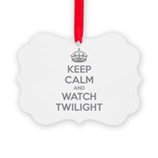 Keep calm and watch twilight Ornament