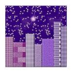 PURPLE CITY Tile Coaster
