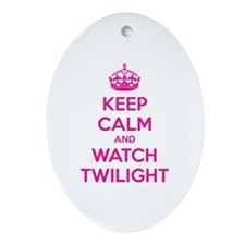 Keep calm and watch twilight Ornament (Oval)