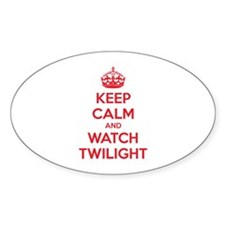 Keep calm and watch twilight Bumper Stickers