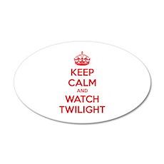 Keep calm and watch twilight 22x14 Oval Wall Peel