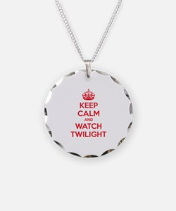 Keep calm and watch twilight Necklace