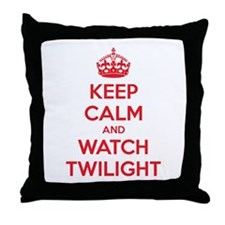 Keep calm and watch twilight Throw Pillow
