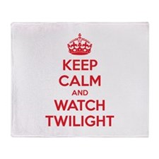 Keep calm and watch twilight Throw Blanket