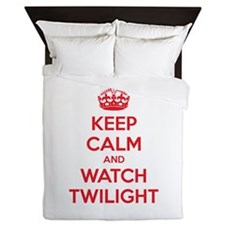 Keep calm and watch twilight Queen Duvet