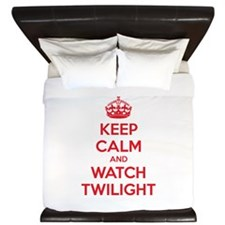 Keep calm and watch twilight King Duvet