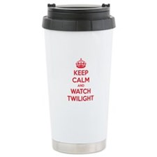 Keep calm and watch twilight Travel Mug
