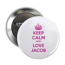 "Keep calm and love Jacob 2.25"" Button"