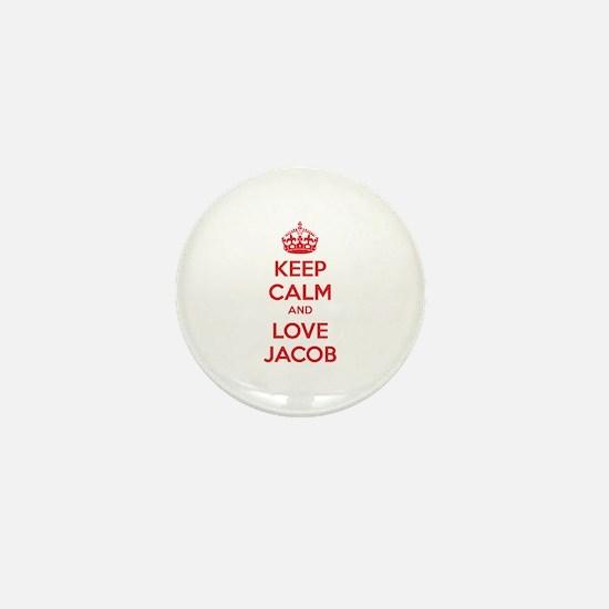 Keep calm and love Jacob Mini Button