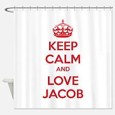 Keep calm and love Jacob Shower Curtain