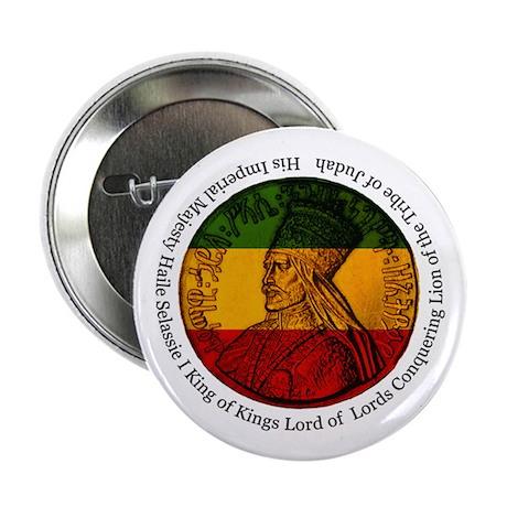 "Haile Selassie King of Kings 2.25"" Button"