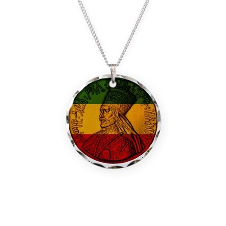 Haile Selassie King of Kings Necklace Circle Charm