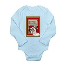 Santas open for Business Long Sleeve Infant Bodysu