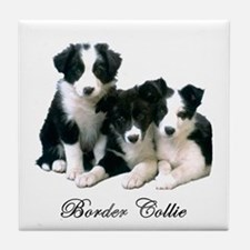 Border Collie Puppies Tile Coaster