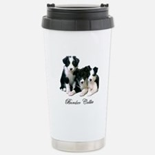 Border Collie Puppies Stainless Steel Travel Mug