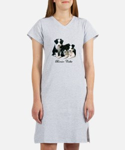 Border Collie Puppies Women's Nightshirt
