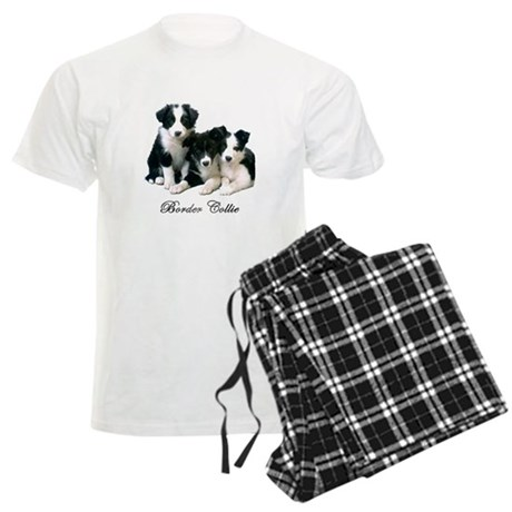 Border Collie Puppies Men's Light Pajamas