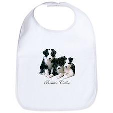 Border Collie Puppies Bib