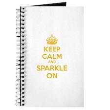 Keep calm and sparkle on Journal