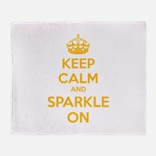 Keep calm and sparkle on Throw Blanket